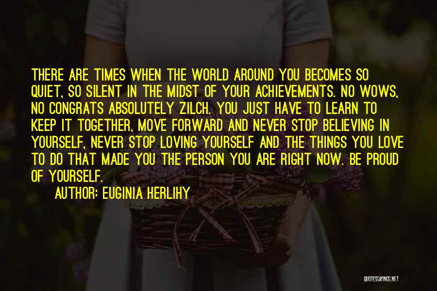Never Stop Loving You Quotes By Euginia Herlihy