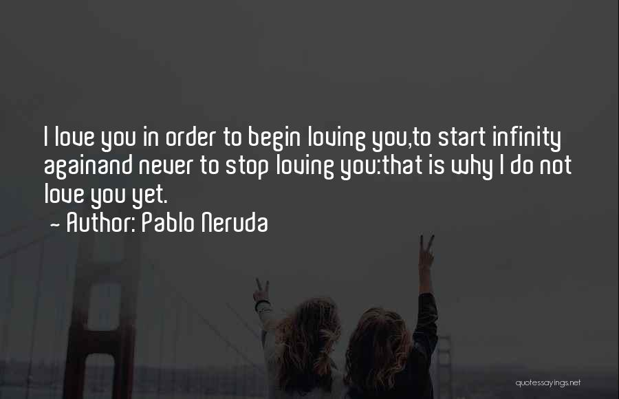 Never Stop Loving You Quotes By Pablo Neruda