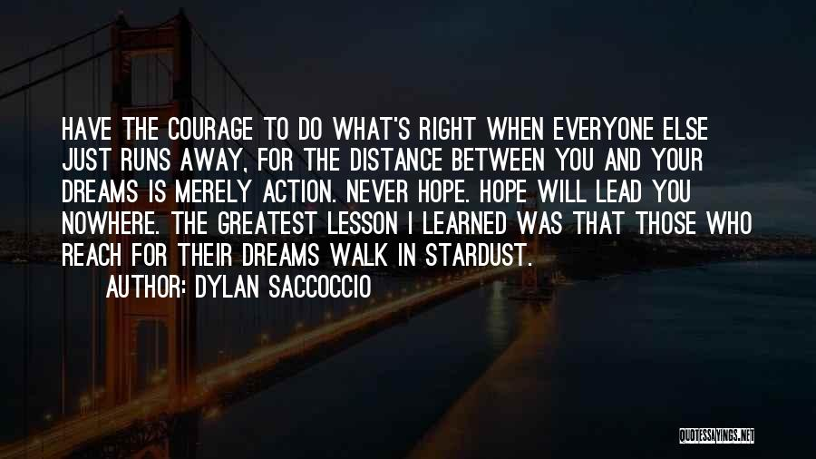 Never Walk Away Quotes By Dylan Saccoccio