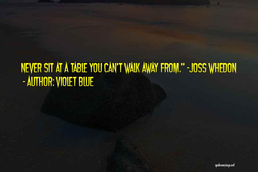 Never Walk Away Quotes By Violet Blue