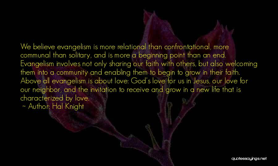 New Beginning And Love Quotes By Hal Knight