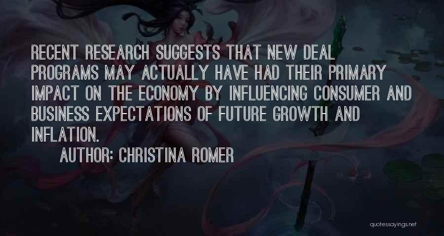 New Deal Programs Quotes By Christina Romer