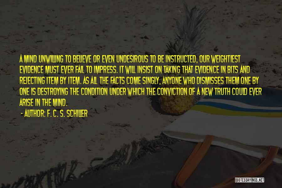 New Item Quotes By F. C. S. Schiller