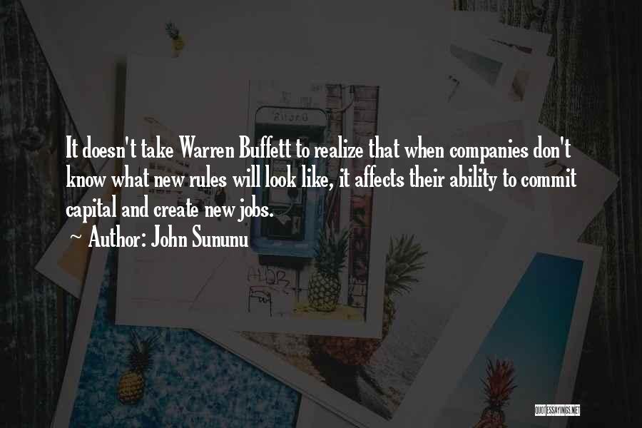 New Jobs Quotes By John Sununu