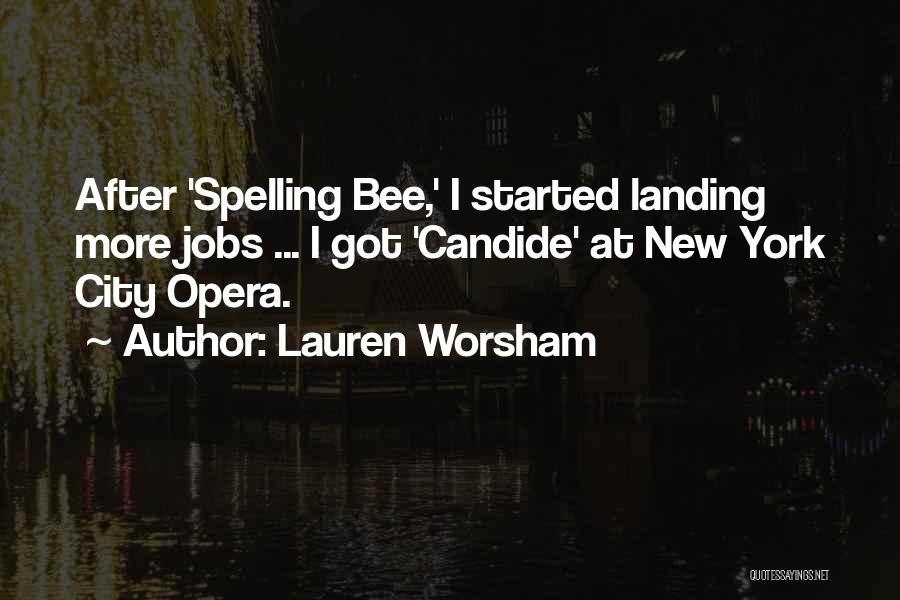 New Jobs Quotes By Lauren Worsham