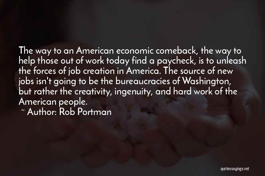 New Jobs Quotes By Rob Portman