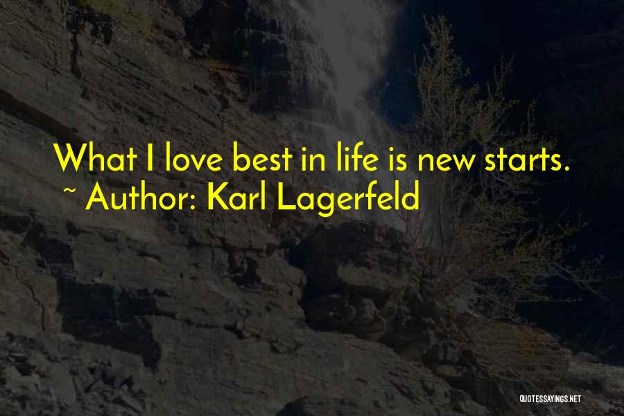New Love Quotes By Karl Lagerfeld