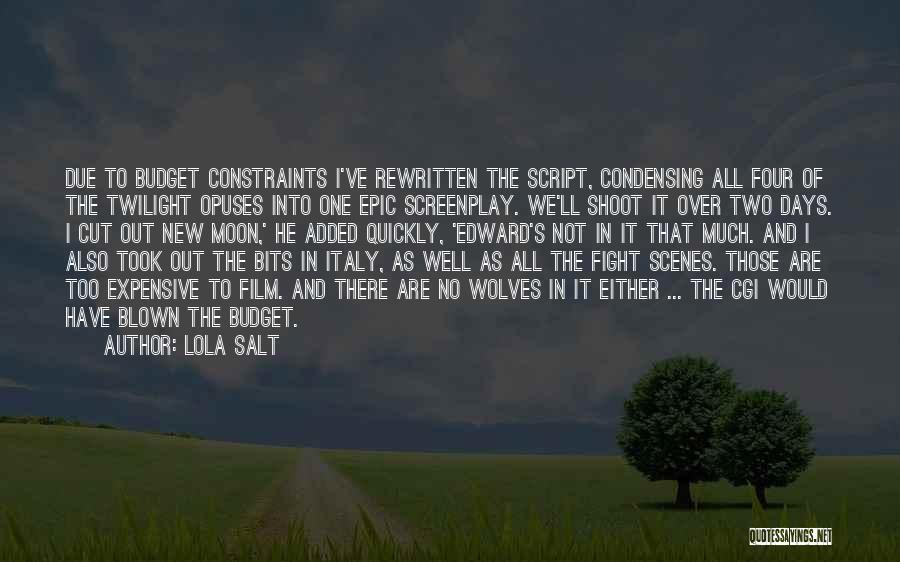 New Moon Romantic Quotes By Lola Salt