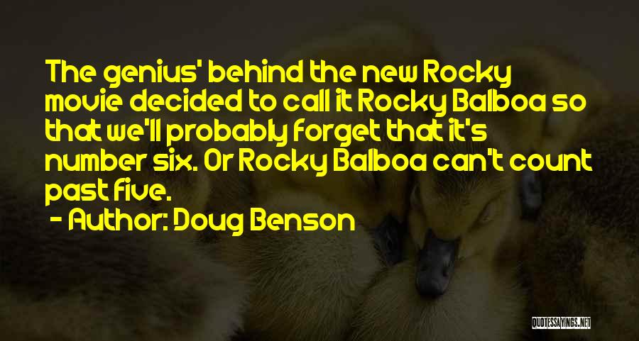 New Number Quotes By Doug Benson