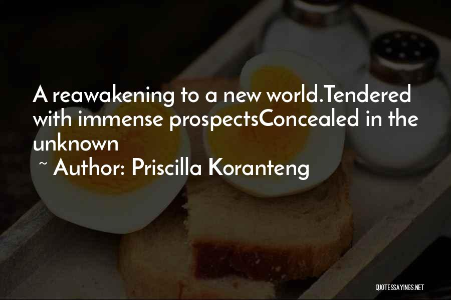 New Prospects Quotes By Priscilla Koranteng
