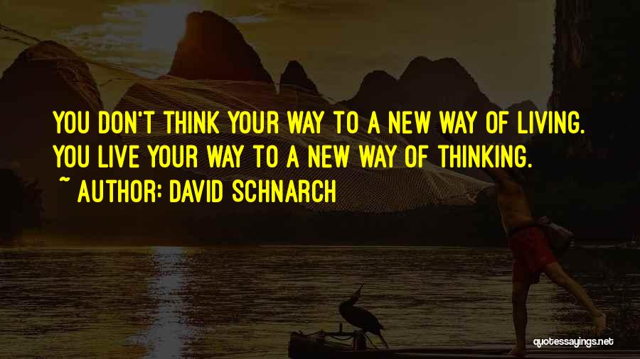 New Way Of Living Quotes By David Schnarch