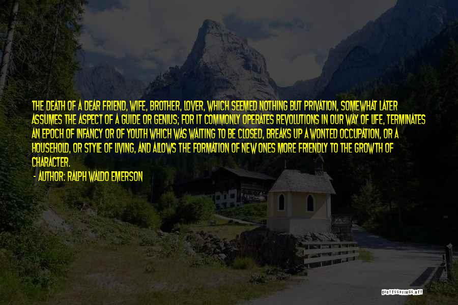 New Way Of Living Quotes By Ralph Waldo Emerson