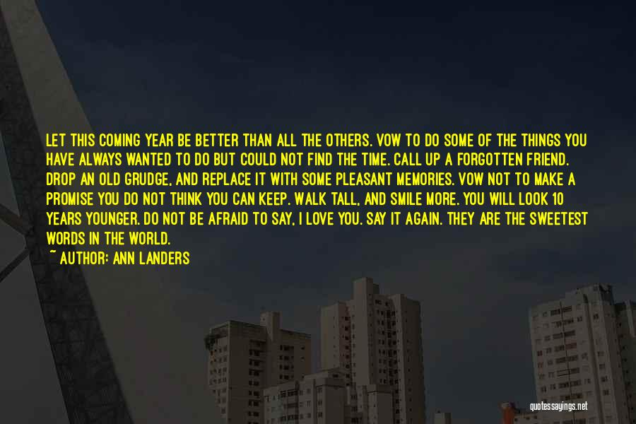 New Year New You Quotes By Ann Landers
