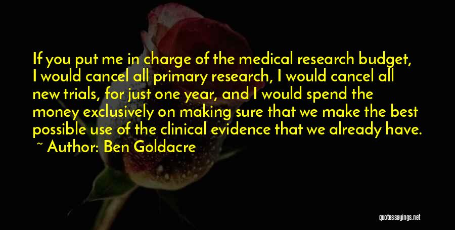 New Year New You Quotes By Ben Goldacre