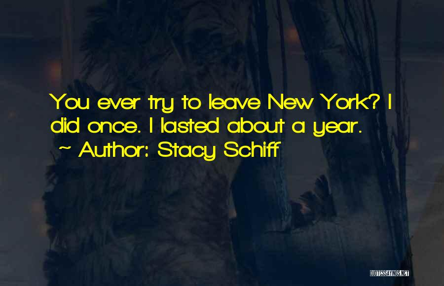 New Year New You Quotes By Stacy Schiff