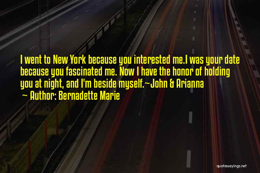 New York And Love Quotes By Bernadette Marie