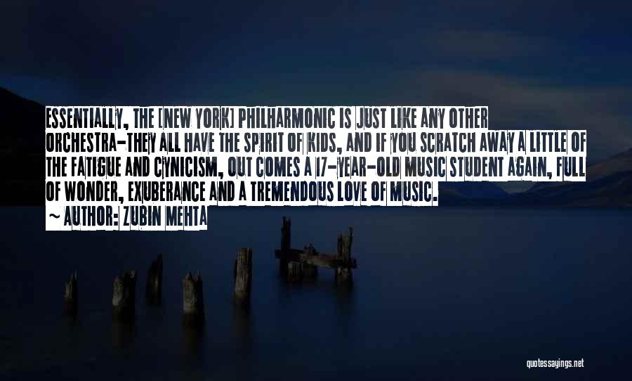 New York And Love Quotes By Zubin Mehta