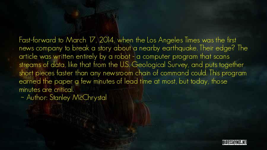 News Article Quotes By Stanley McChrystal