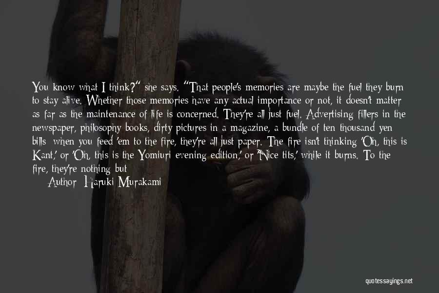 Newspaper Advertising Quotes By Haruki Murakami