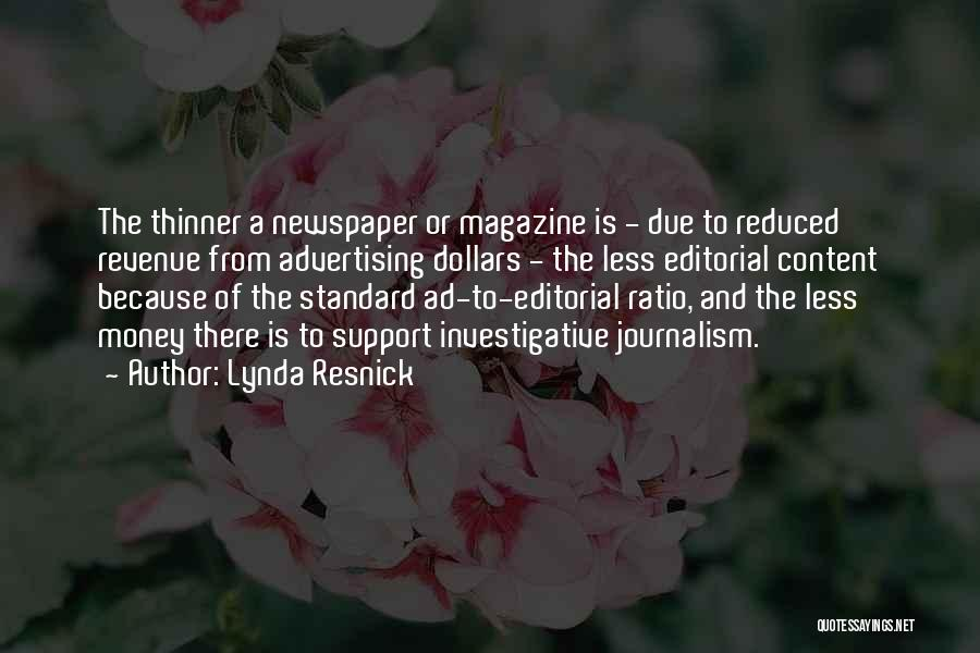 Newspaper Advertising Quotes By Lynda Resnick