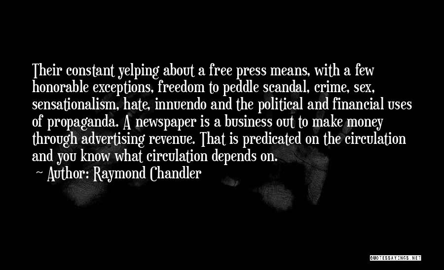 Newspaper Advertising Quotes By Raymond Chandler