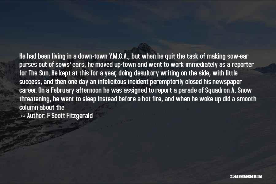 Newspaper Editor Quotes By F Scott Fitzgerald