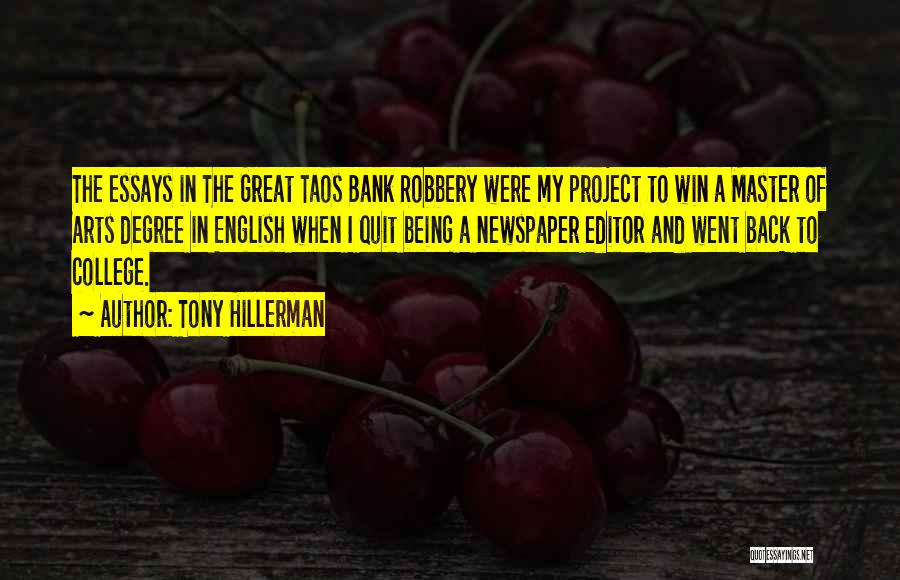 Newspaper Editor Quotes By Tony Hillerman