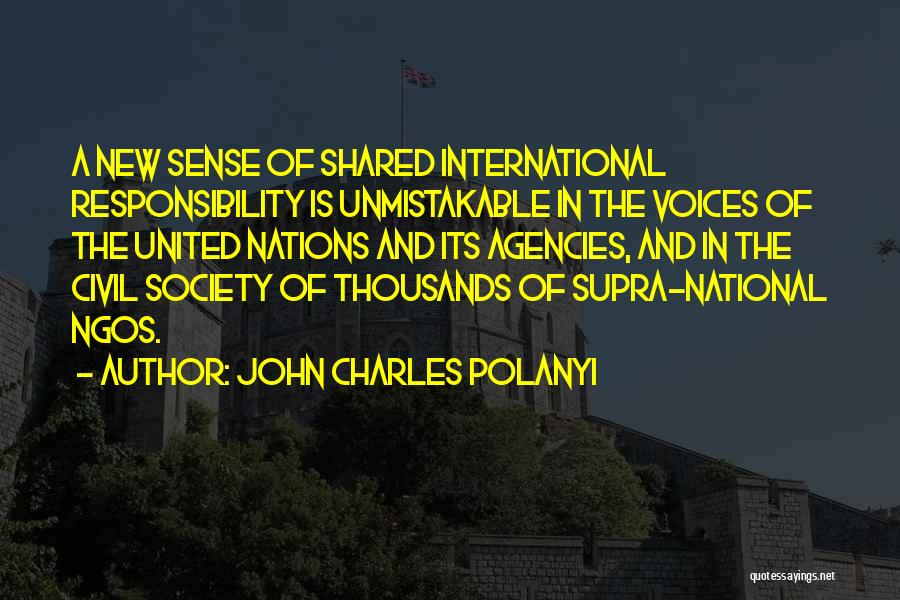 Ngos Quotes By John Charles Polanyi