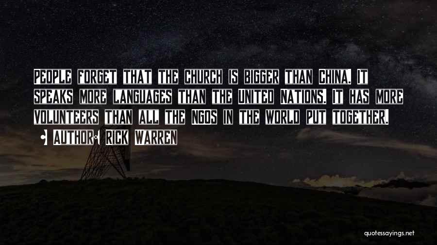 Ngos Quotes By Rick Warren