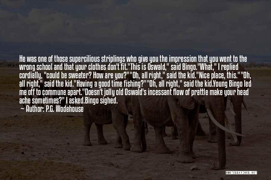 Nice Jolly Quotes By P.G. Wodehouse
