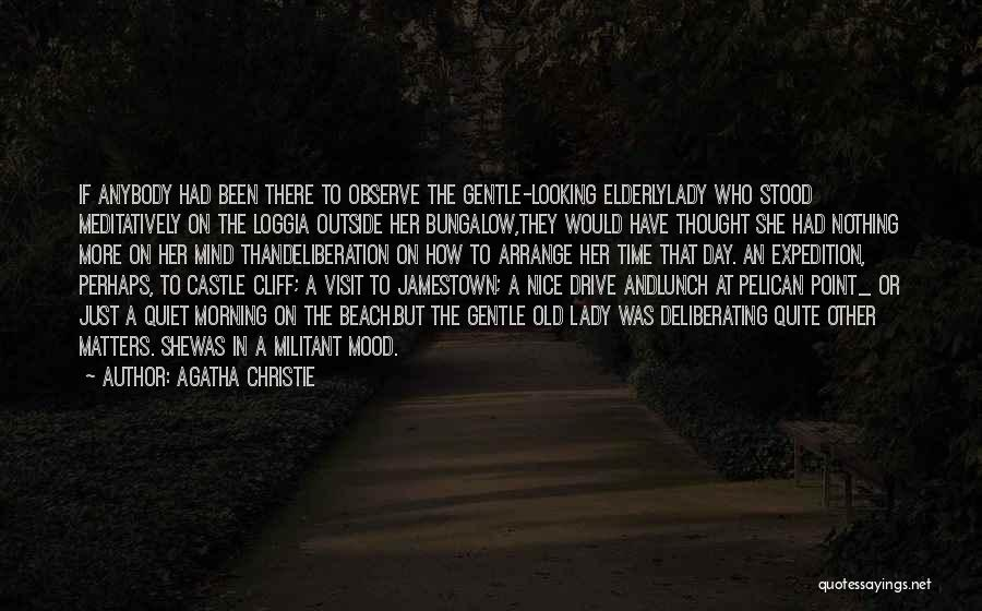 Nice Lunch Time Quotes By Agatha Christie