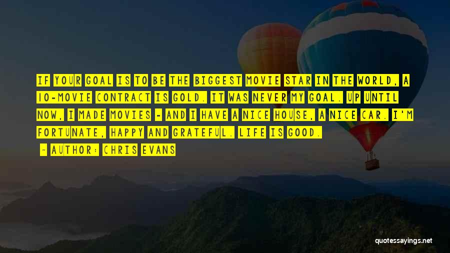 Nice To Be Happy Quotes By Chris Evans