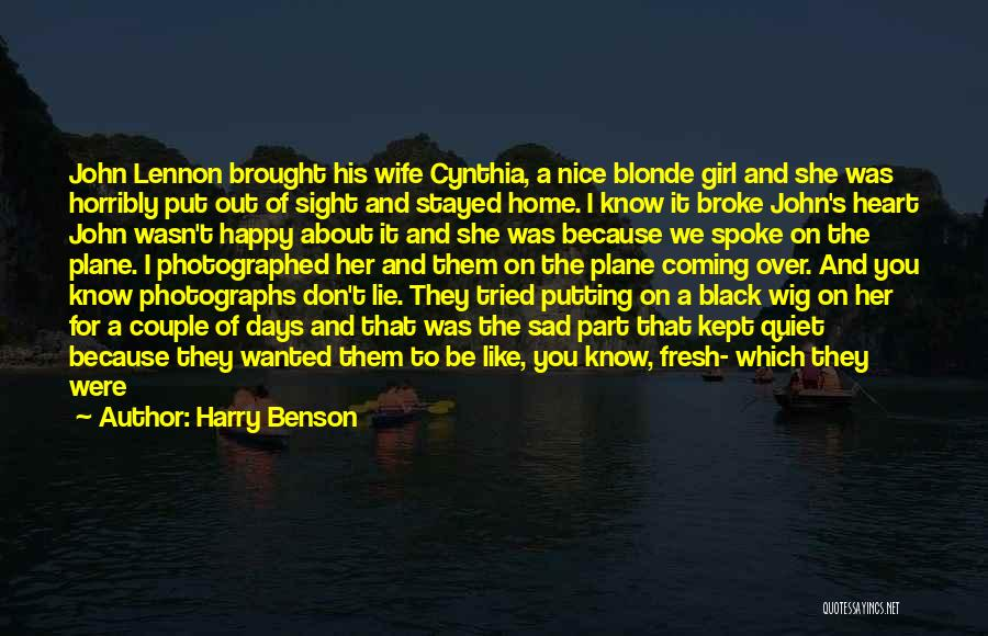 Nice To Be Happy Quotes By Harry Benson