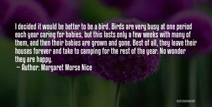 Nice To Be Happy Quotes By Margaret Morse Nice