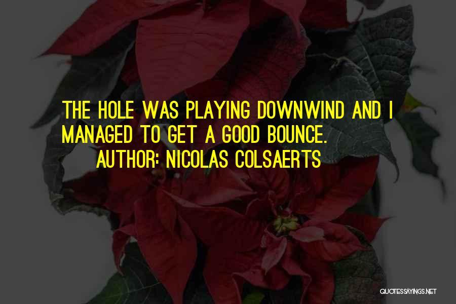 Nicolas Colsaerts Quotes 898478