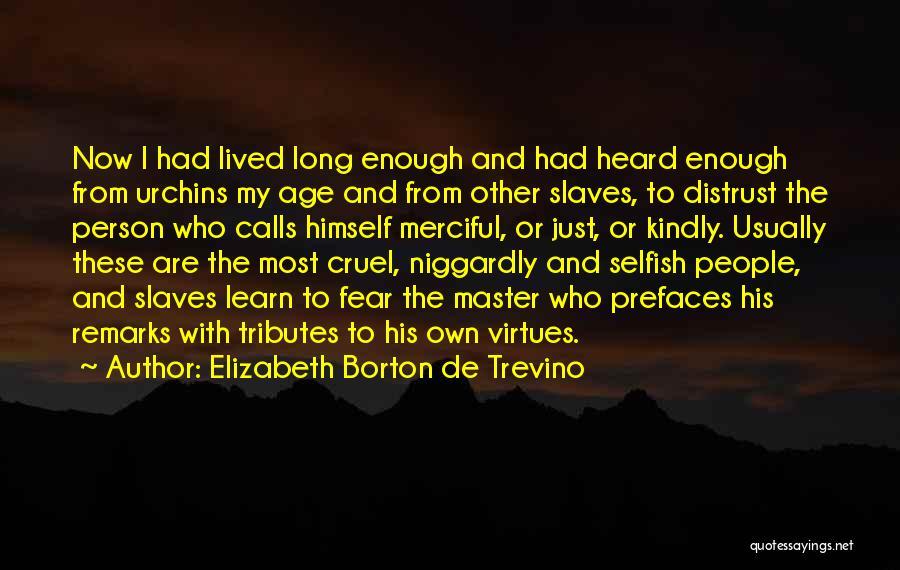 Niggardly Quotes By Elizabeth Borton De Trevino