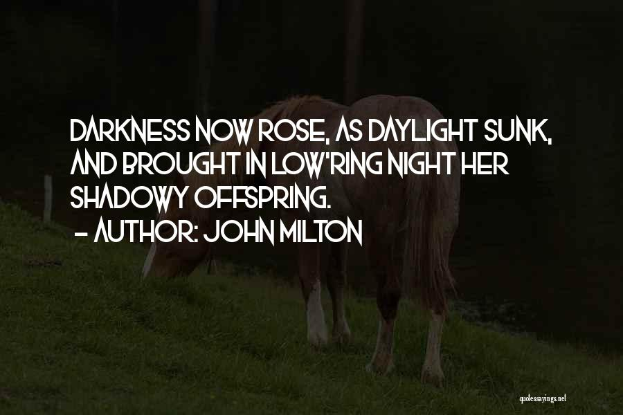 Night Darkness Quotes By John Milton