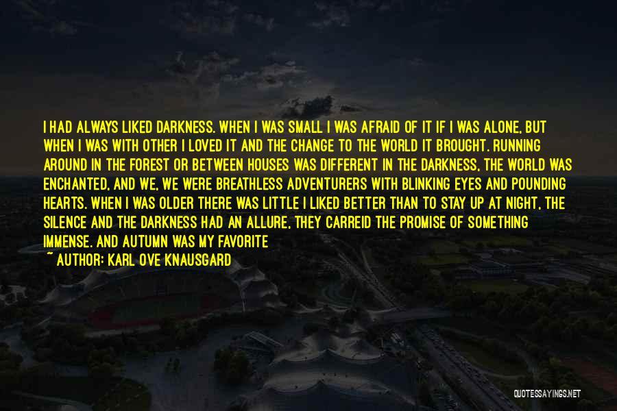 Night Darkness Quotes By Karl Ove Knausgard