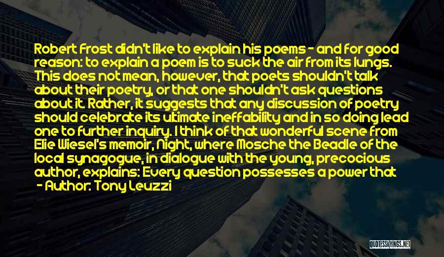 Night Memoir Quotes By Tony Leuzzi