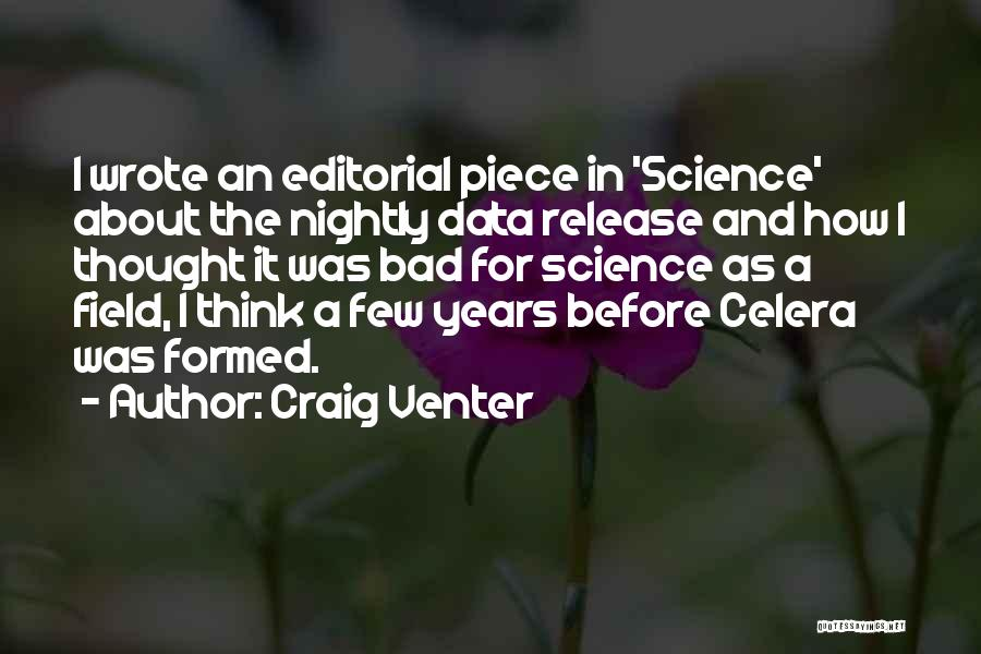 Nightly Quotes By Craig Venter