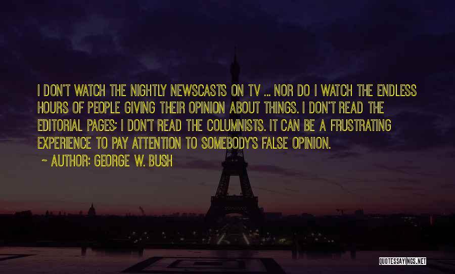 Nightly Quotes By George W. Bush