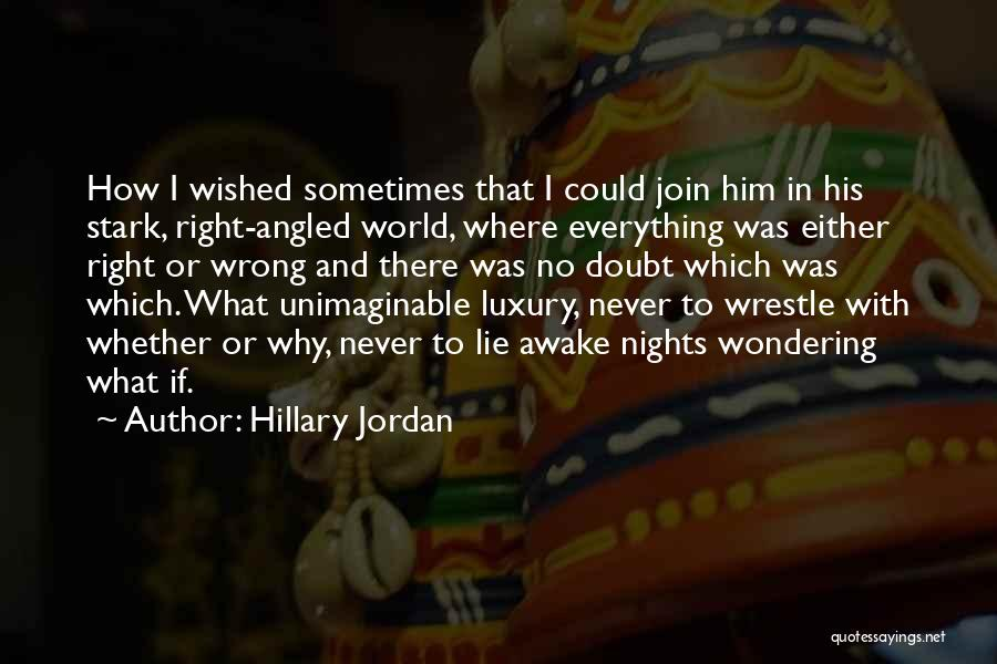 Nights With Him Quotes By Hillary Jordan