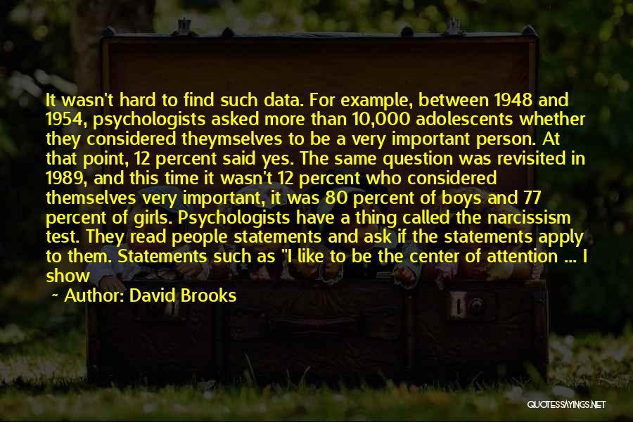 Ninety Three Quotes By David Brooks