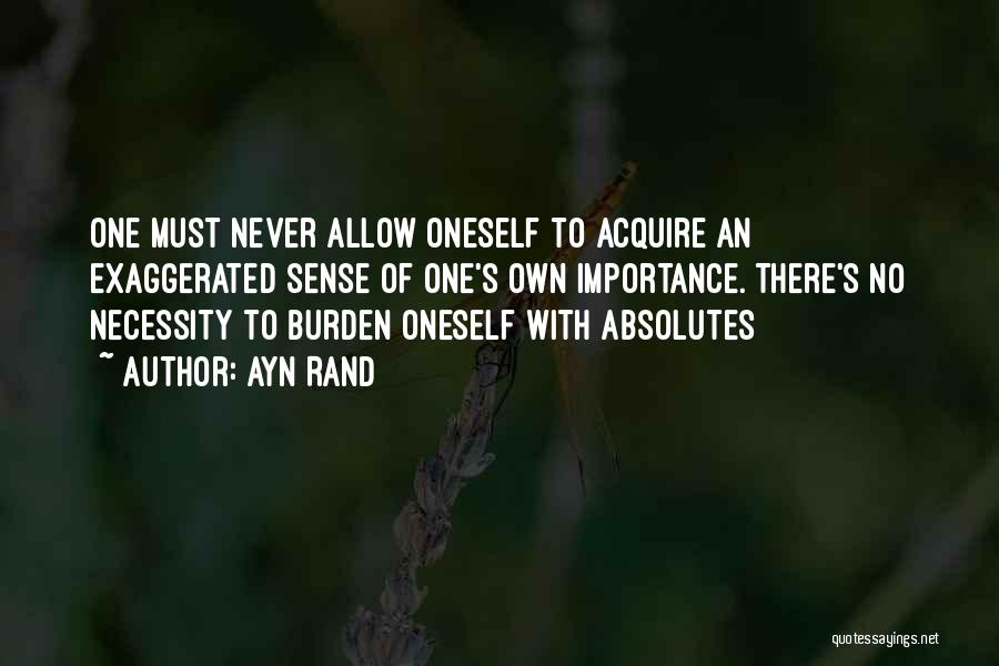 No Absolutes Quotes By Ayn Rand