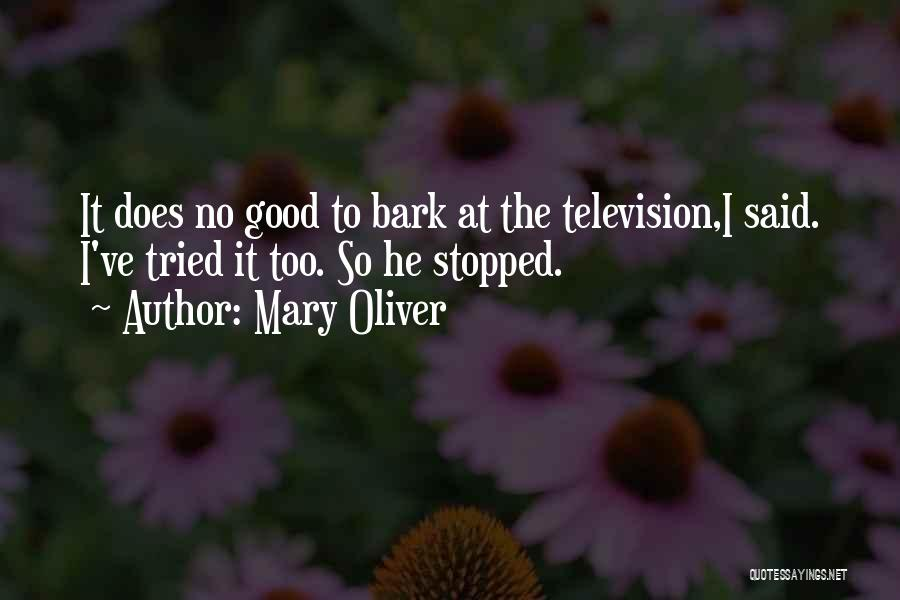 No Bark Quotes By Mary Oliver