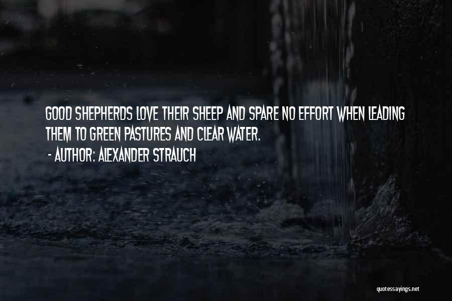 No Effort Love Quotes By Alexander Strauch