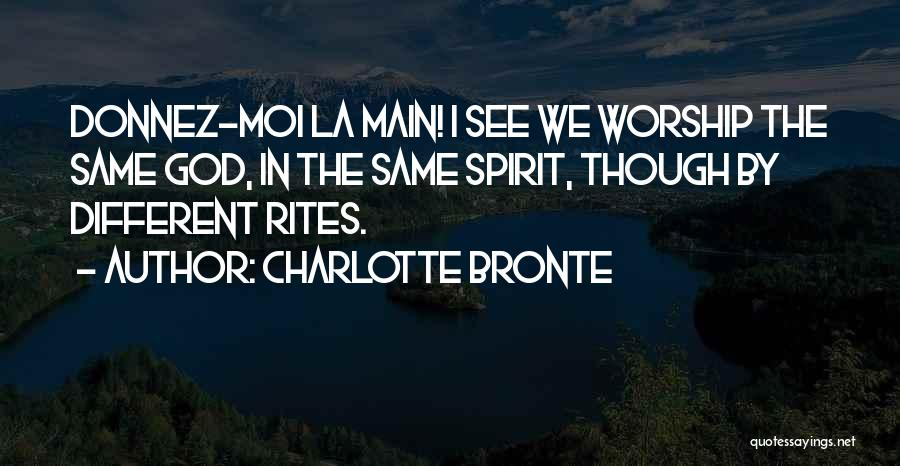 No Et Moi Quotes By Charlotte Bronte