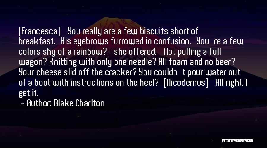 No Eyebrows Quotes By Blake Charlton