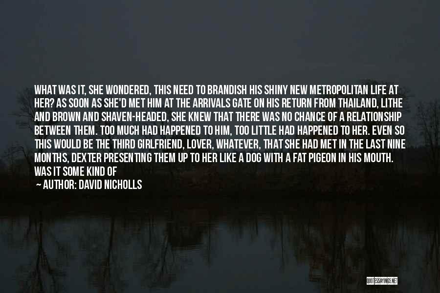 No Girlfriend Quotes By David Nicholls