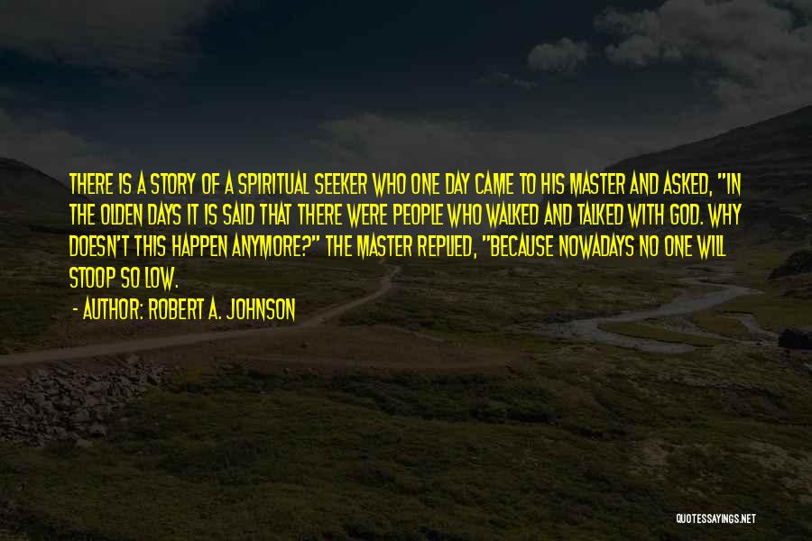 No God No Master Quotes By Robert A. Johnson